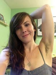 Very hairy female armpits