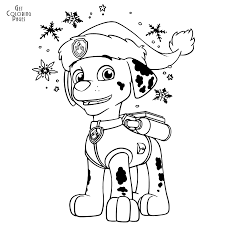 Coloring Pages Fantastic Paw Patrol Marshall Coloring Pages For