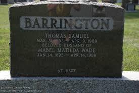 ON: Maple Ridge Cemetery (Mabel Matilda (Wade) BARRINGTON), CanadaGenWeb's  Cemetery Project