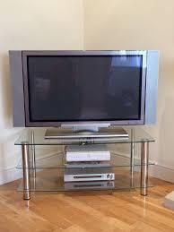 hitachi plasma tv. 42 inch hitachi plasma tv, sky box, sony dvd and tv stand tv