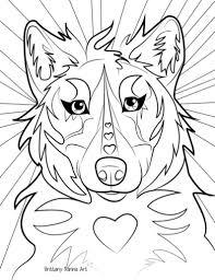 Kleurplaat Pagina Wolf Wolf Kleurplaat Etsy