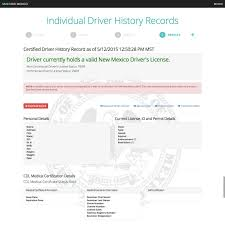 New Mexico S Online Driver History Record System