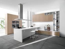 Kitchen Island Open Shelves Design Modern Vertical Wood Grain Kitchen Cabinets With Open