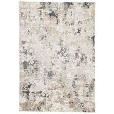 machine made white sand 10 ft x 14 ft abstract area rug