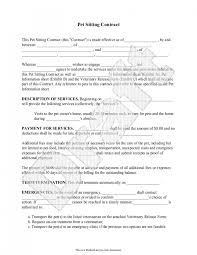 Sample Pet Sitting Contract Form Template Pet Sitting Business Dog