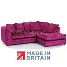 purple crushed velvet corner sofa