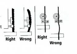 bandsaw blade guides. band saw blade tips and information bandsaw guides