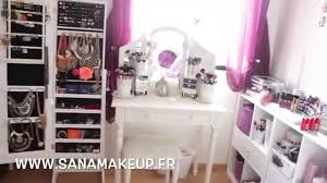 room tour mes rangements make up makeup collection sanamakeup audiomania lt