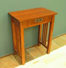 red hallway table. 3014-24 red oak mission hall table no shelf - early stain hallway
