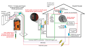 surge protection for ar200u mid range reader magnet security please click on following link for technical connection diagram diagram 1 surge protection for cp3 parking access system
