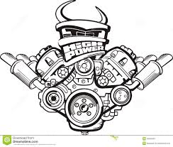 Stock illustration high power engine drawing car sign image45954561 on parts of a diesel engine mitsubishi