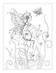 Fairies Coloring Pages For Adults Fairy Coloring Pages Free