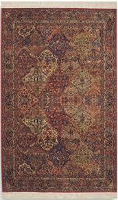 karastan original 700 717 multi panel kirman 6 x 9 wool rug