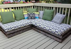 make outdoor chair cushions. the cushions stored well, and pillows. thinking that we will need new pallets next year. two year lifespan with wear tear. easy cheap little diy make outdoor chair