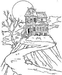 Haunted House Coloring Pages Getcoloringpagescom
