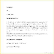 Samples Of Letters Authorization Format Letter Sample To