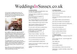 Wedding Planning Checklist Weddings In Sussex
