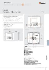 bticino brochures bticino 344192 polyx video monitor brochure