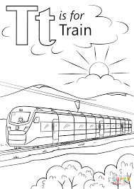 Small Picture T is for Train coloring page Free Printable Coloring Pages