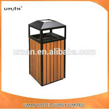 park trash cans outdoor wooden recycling garbage can bin waste bins decorative home depot canada park trash cans outdoor