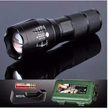 Đèn pin Police AMY XML-T6 MỚI siêu sáng Tặng Bộ sạc và pin sạc, Hộp Nhựa  Chống Sốc - BH 1 ĐỔI 1 [GiaSi114]