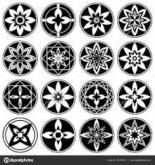 установить цветочный орнамент тату цветы в звезды астры знак 4 и 8