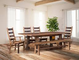 Reclaimed Wood Dining Table And Chairs Cleveland Reclaimed Wood Dining Table