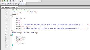 C Programming Tutorial 49 Functions Part 4 Call By Reference Method