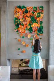 diy wall art ideas awesome mesmerizing diy handmade paper flower art projects to