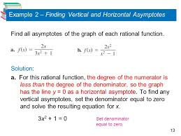example 2 finding vertical and horizontal asymptotes
