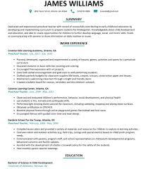Preschool Teacher Resume Cool Preschool Teacher Resume Sample Resumelift Preschool Teacher Resume