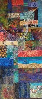 Teapot art quilt | Art Quilts | Pinterest | Teapot, Quilt art and ... & I love the quilted bird. Fiber Art Quilts-Landscape Adamdwight.com