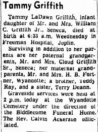Obituary for Tammy La Dawn Griffith - Newspapers.com