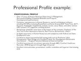 resume with profile statement resume profile example career change resume profile statement