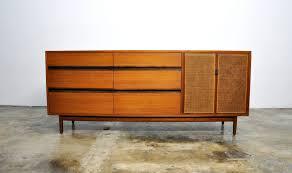Retro Credenza Mid Century Danish Modern Calvin Furniture Credenza Dresser Buffet