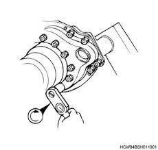 Rear Brake Drum Installation Meritor Production Model