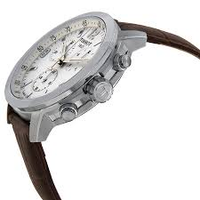 tissot prc 200 chronograph white dial brown leather mens watch item specifics
