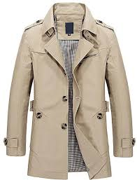 product images gallery fashion men s trench coat army green