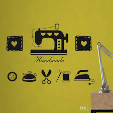 vinyl sewing machine wall stickers decoration decor home decal fashion cute waterproof bedroom living sofa family house glass cabinet home decal home