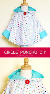 how to make a poncho with sleeves easy raincoat diy