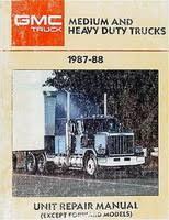 gmc truck service manuals original shop books factory repair manuals gmc medium heavy duty truck 1987 88 unit repair manual