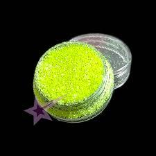 Glitter Metalický Efekt Neonový žlutý G60