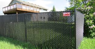 chain link fence slats brown. Photo Of Ornamental Fence Chain Link Slats Brown F