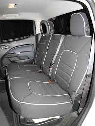 chevrolet colorado full piping seat covers rear seats