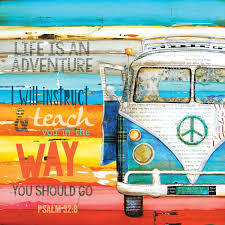 Vw Quote ART PRINT or CANVAS Adventure Vw van print volkswagen bus beach art 5