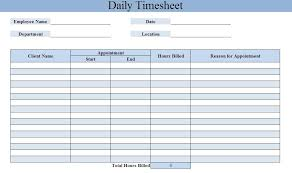 daily timesheet template free printable weekly timesheet template
