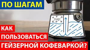 Как пользоваться гейзерной кофеваркой? Варим <b>кофе</b> пошагово ...