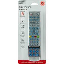 Ge Remote Access Ge Universal Remote Control 6 Devices Brushed Silver Walmartcom