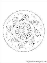Disegno Del Mandala Con I Delfini Da Colorare Disegni Da Colorare