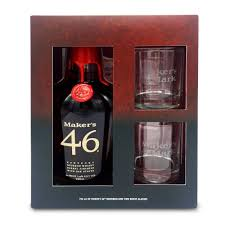maker s mark 46 gift set with 2 gles out of stock
